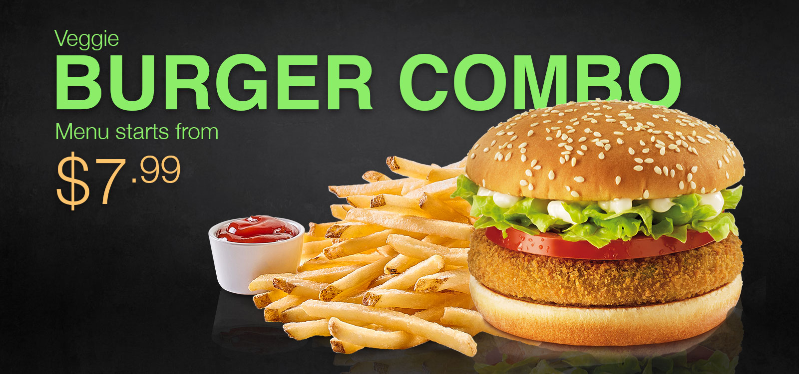 Veggie Planet Deal: Veggie Burger combo deal starting from $7.99