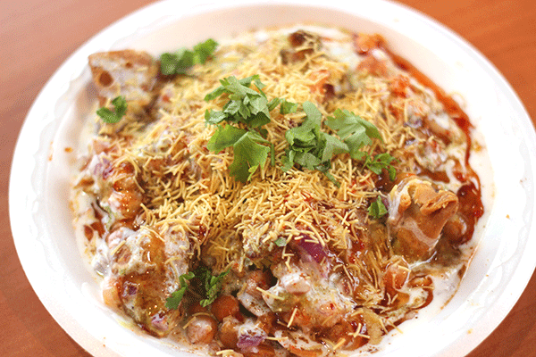 Chana Samosa Chaat