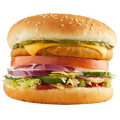 Kachori Burger + Potato Wedges