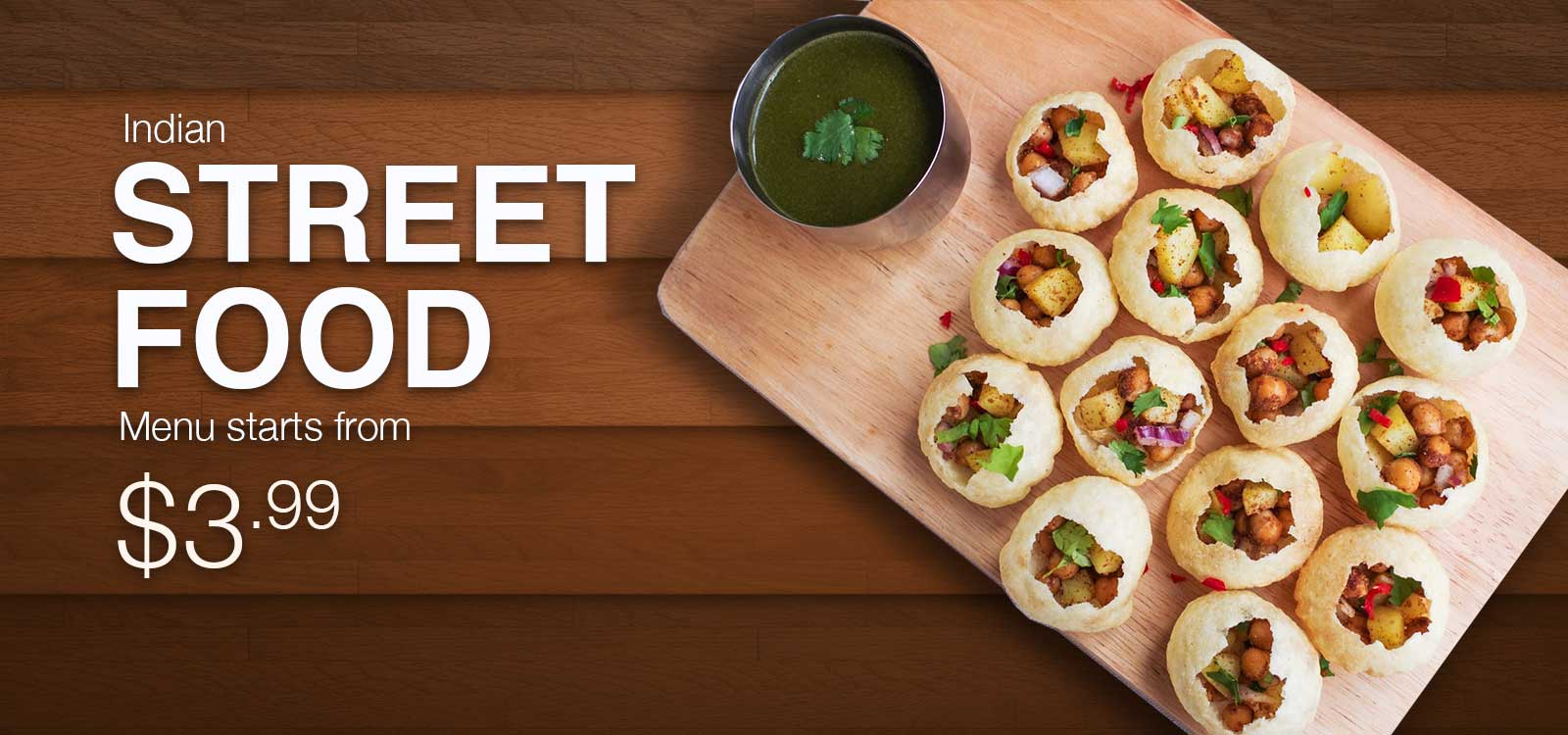 Veggie Planet Deal: Indian street food starting from $2.99