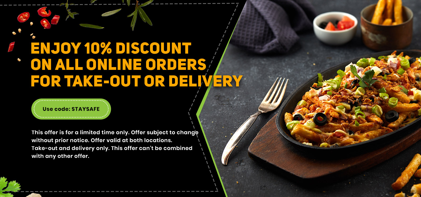 Enjoy 10% off on all online orders