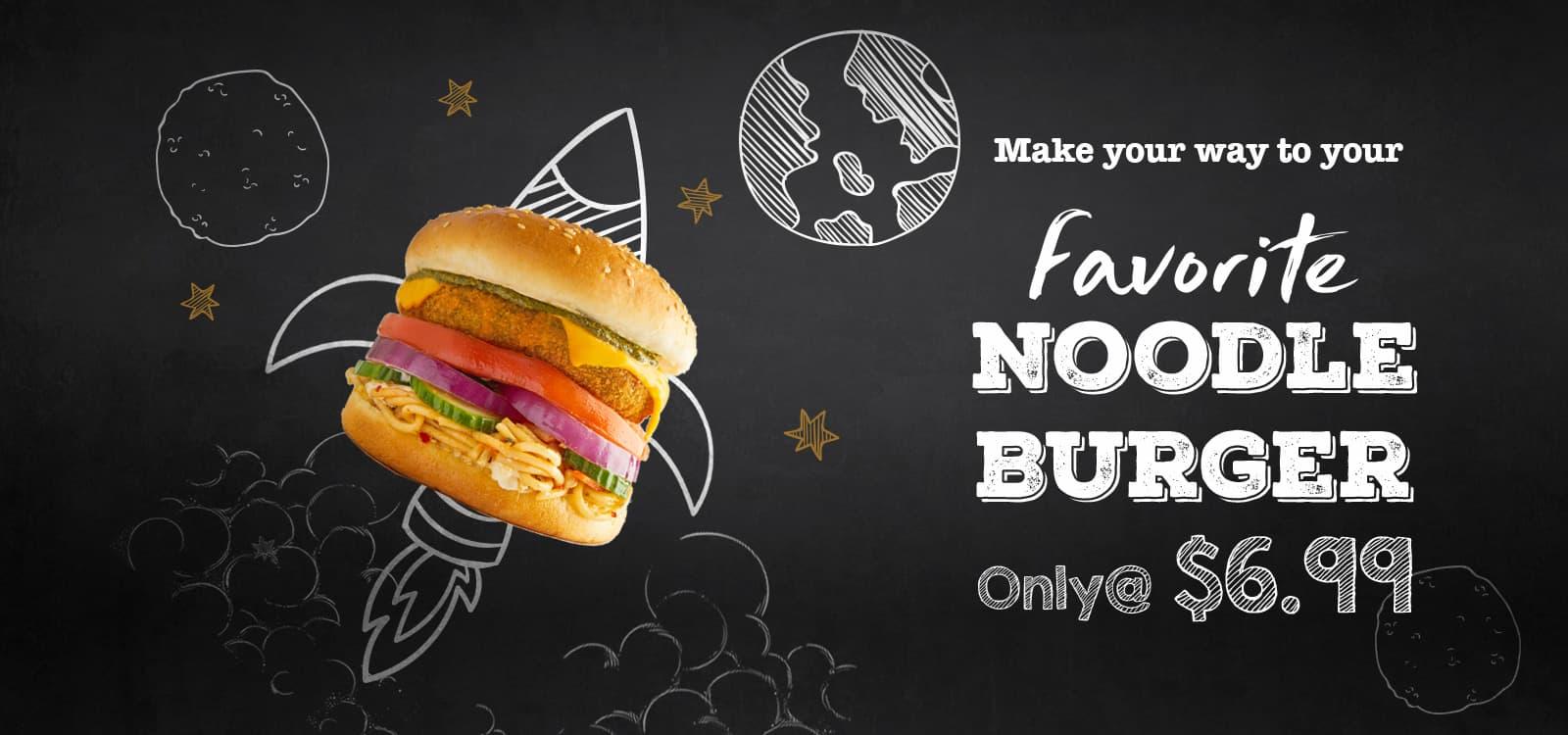 Veggie Noodle Burger
