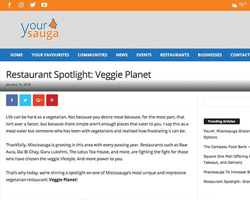 Restaurant Spotlight: Veggie Planet